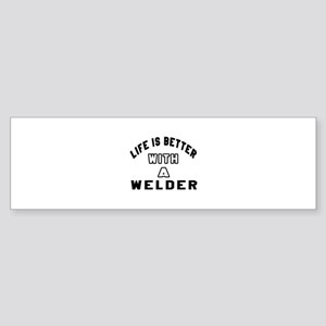 Welder Designs Sticker (Bumper)